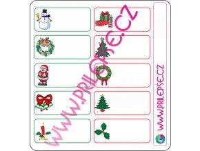 Vánoční samolepky na dárky
