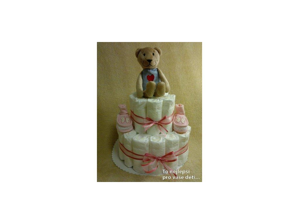 Plenkový dort RŮŽOVÝ