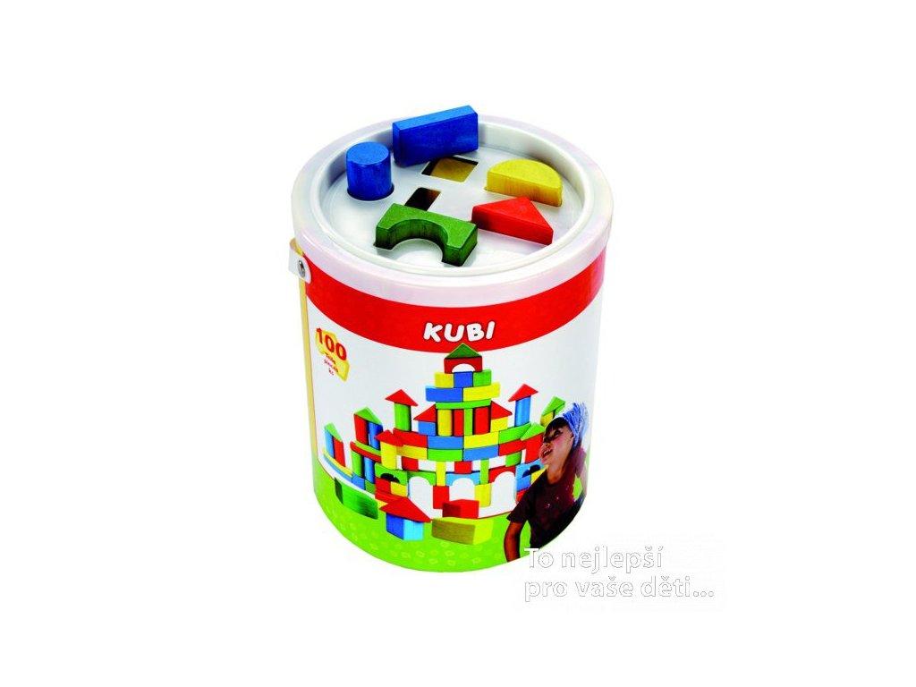 Kostky v kbelíku s vkládacím víkem, 100 ks