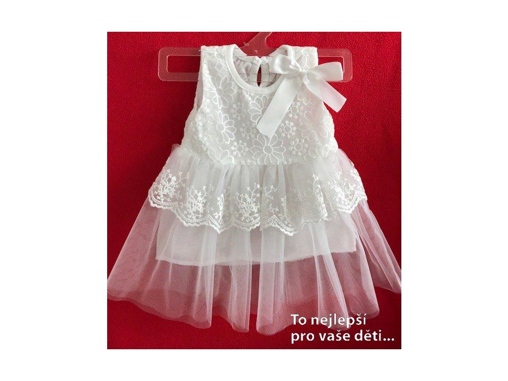Šaty na křtiny - bílé