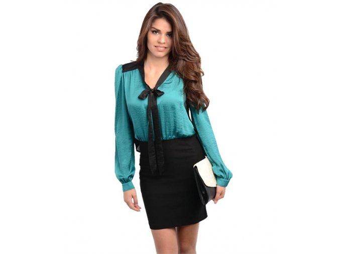 Dámské šaty HAVE&HAVE - green black