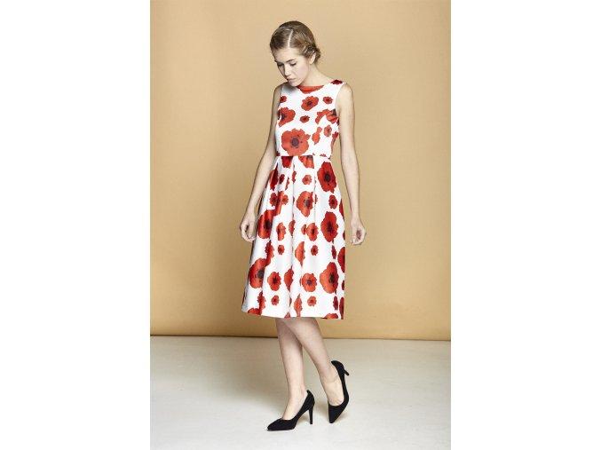 Letní květinové šaty DS73221M