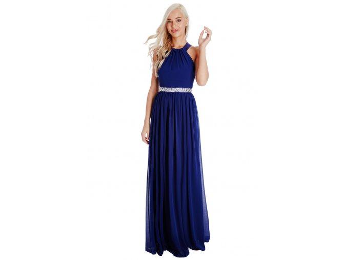 Dlouhé plesové šaty PENELOPE ROYALBLUE