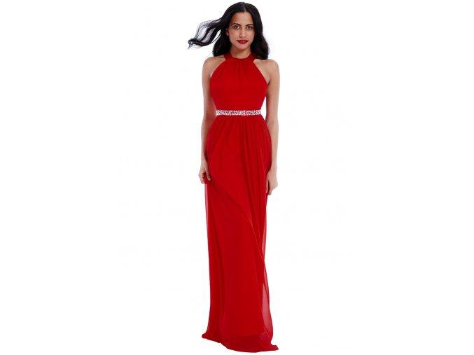Dlouhé plesové šaty PENELOPE RED