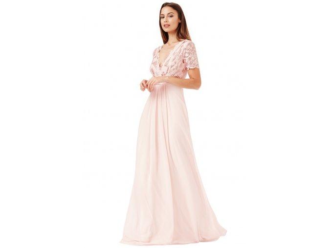 Dlouhé plesové šaty LAUREN NUDE