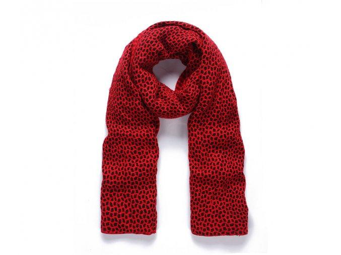 Dámská zimní Šála RED BLACK