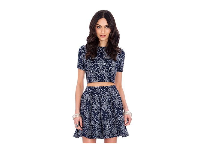 city goddess floral navy