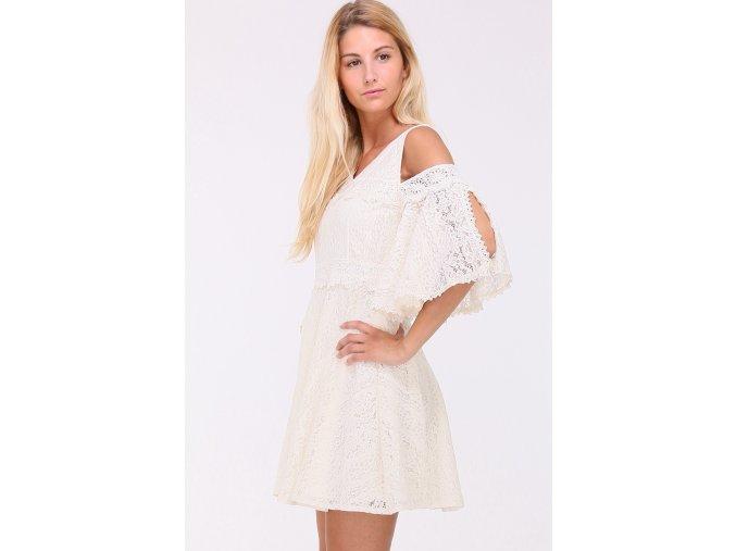 Krajkové šaty DIANA WHITE1