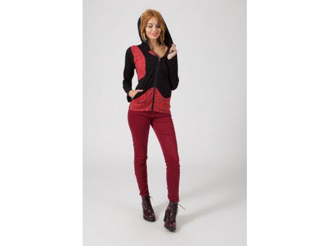 Dámská mikina ETHNIC BLACK RED