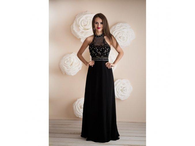 Dlouhé černé společenské šaty