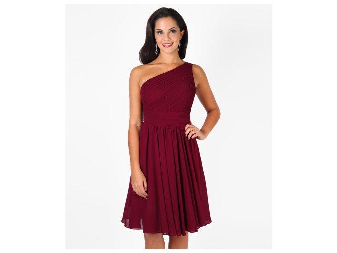 Šaty do tanečních vínové