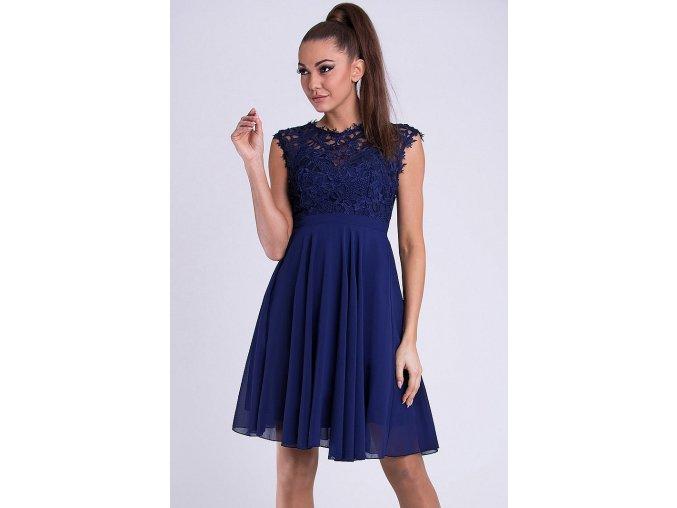 Tmavě modré kr. spol. šaty