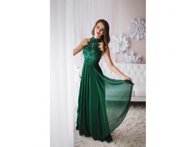 Zelené večerní šaty k