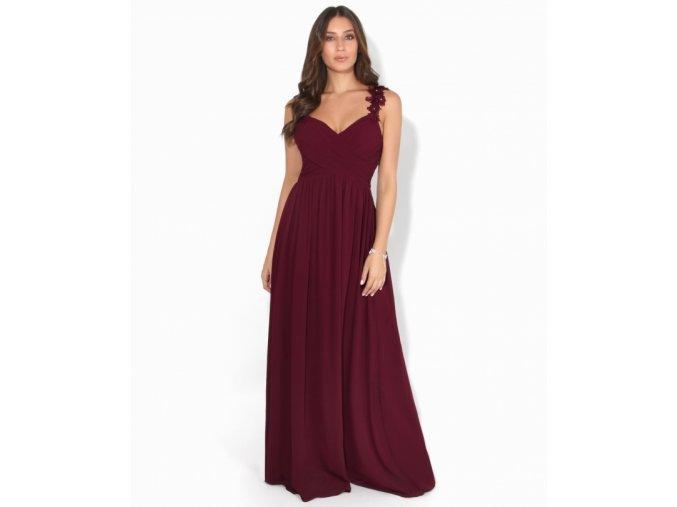 Družičkovské šaty vínové