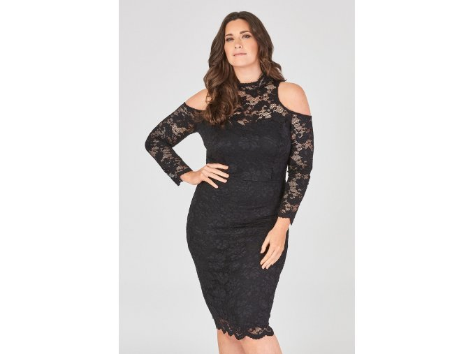 Krajkové midi šaty CANDY BLACK