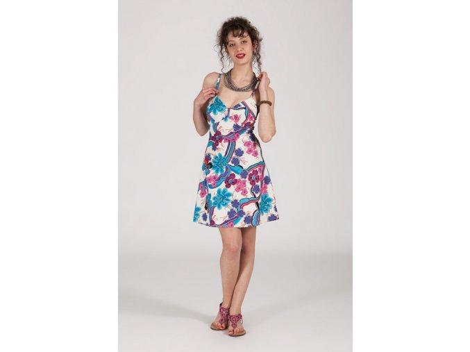 Krátké letní šaty FLOWERY