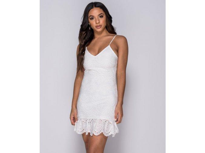 Letní krajkové mini šaty