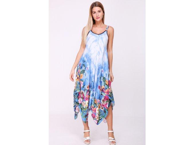 Letní midi šaty DARIA modré