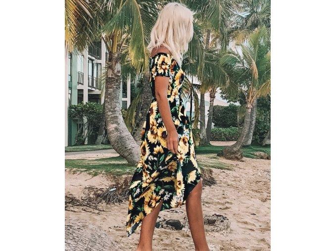 Slunečnicové maxi šaty