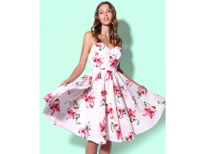 Květované koktejlové šaty