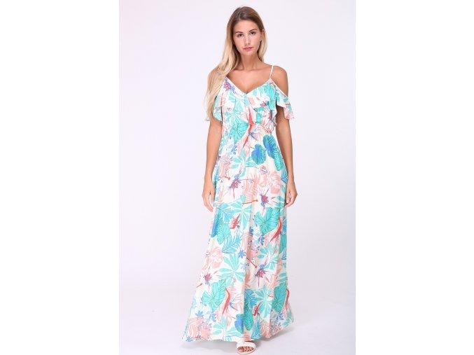 Dlouhé letní květované šaty TROPICANA barevné