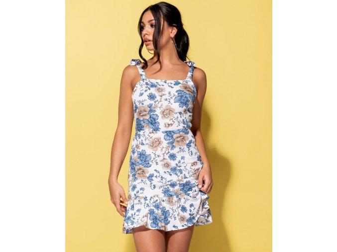 Letní květované Mini šaty MILA