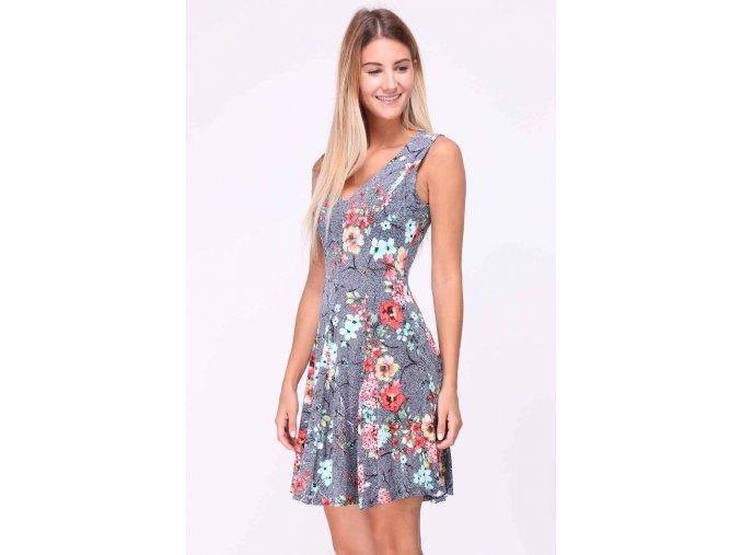 Letní Květované šaty LUNA modré