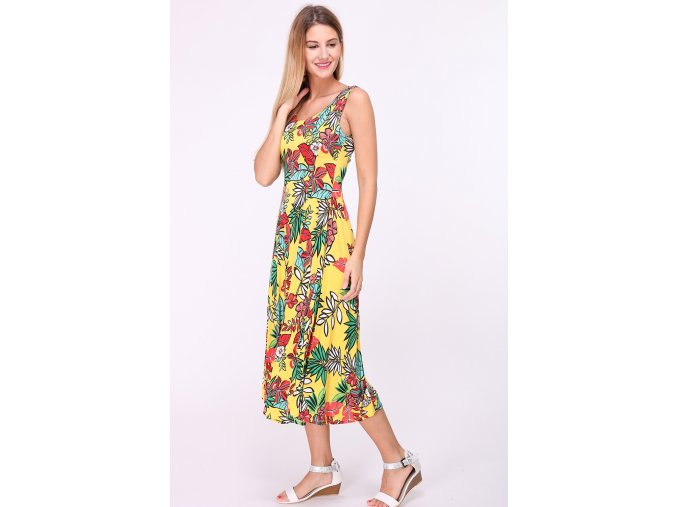 Letní midi šaty JORDANIE žluté