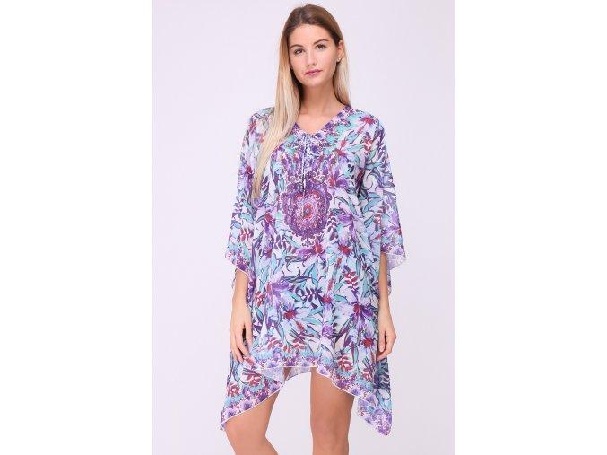 Plážové šaty Kaftan fialové