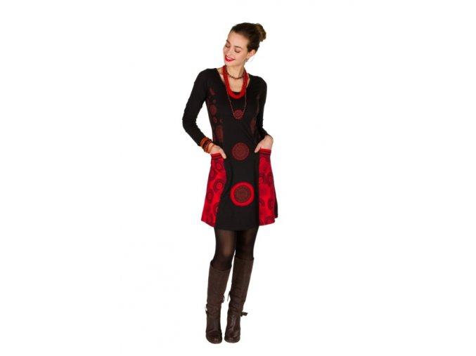 Etnické šaty ZONA černé