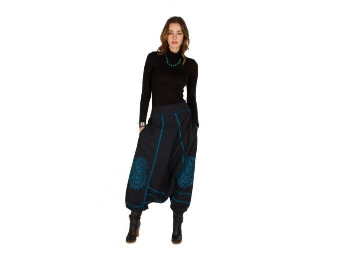 Etnické Kalhoty MOHA černé modré
