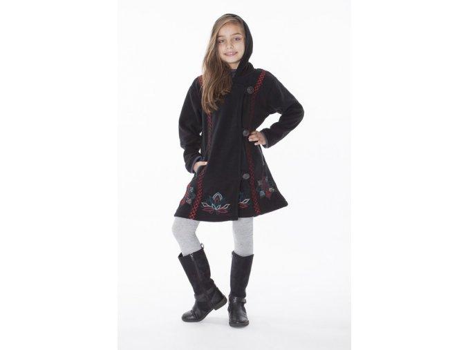 Dívčí etno Kabát černý