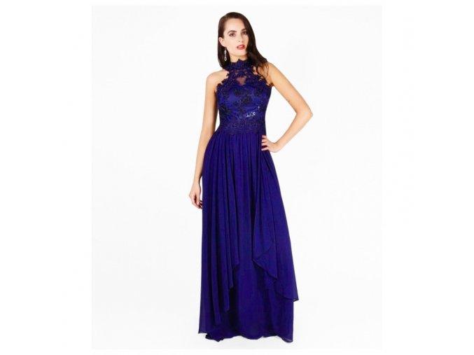 Společenské šaty OLYA královská modř