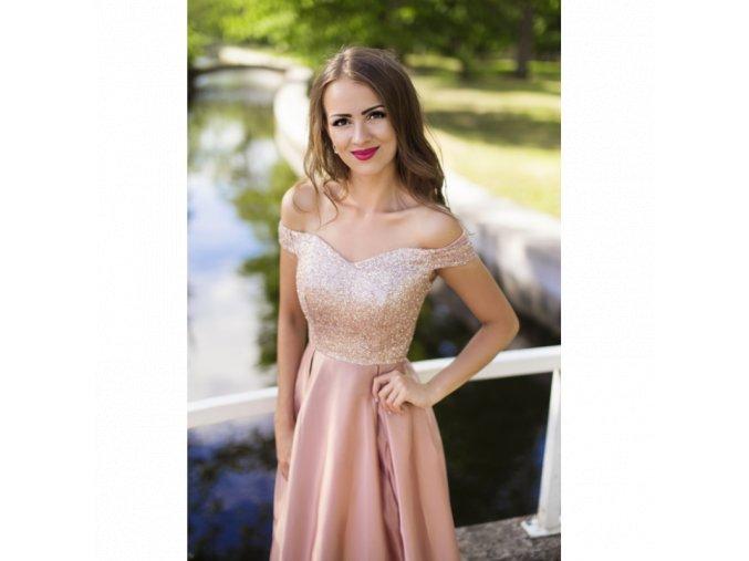 Společenské šaty AURÉLINE růžové