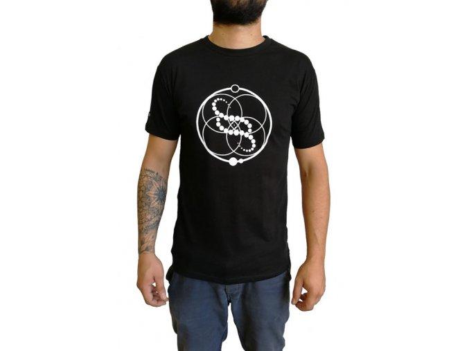 Pánské  bavlněné tričko CIRCLES černé