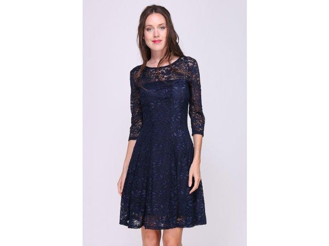 Krajkové šaty JADE tmavě modré