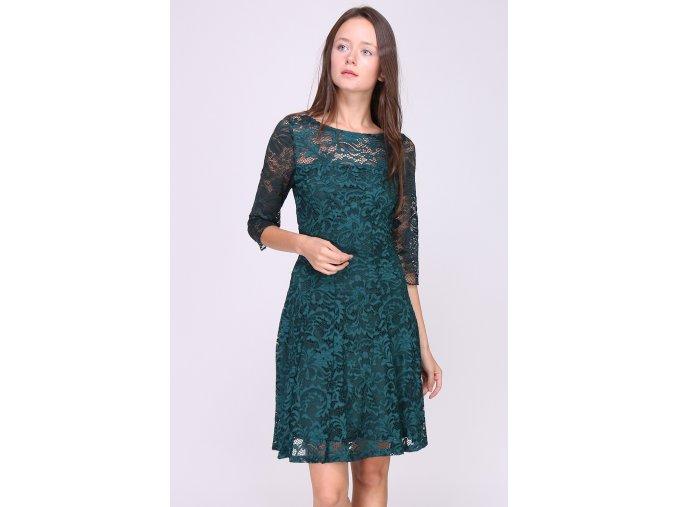 Krajkové šaty JADE tmavě zelené