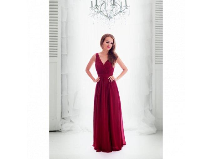 Společenské šaty JOELLE vínové