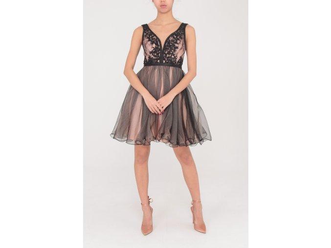 Koktejlové Šaty ELA černé