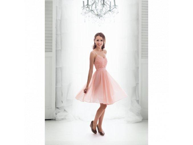 Koktejlové Šaty VALENTINE růžové