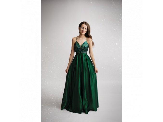 Společenské plesové šaty CARINE zelené
