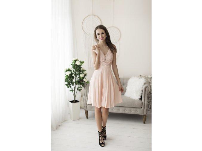 Koktejlové Šaty MATHIE růžové