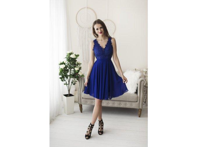 Koktejlové Šaty MATHIE modré