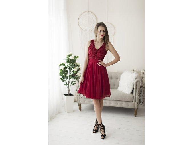 Koktejlové Šaty MATHIE červené