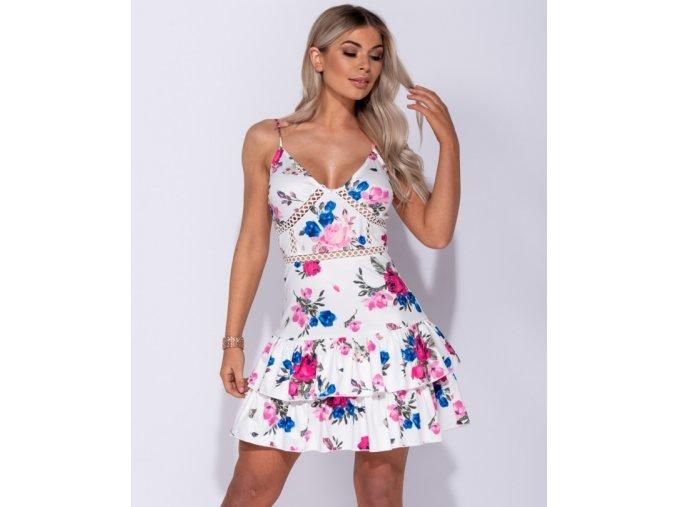 Letní květované Mini šaty ROSA