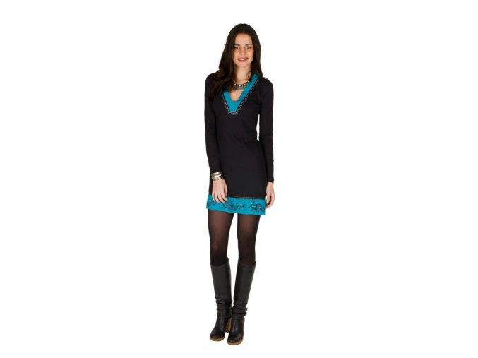 Bavlněné šaty černé LISA