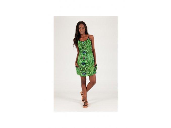 Krátké letní šaty zelené barevné