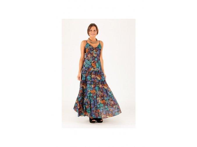 Letní Maxi šaty vzorované barevné