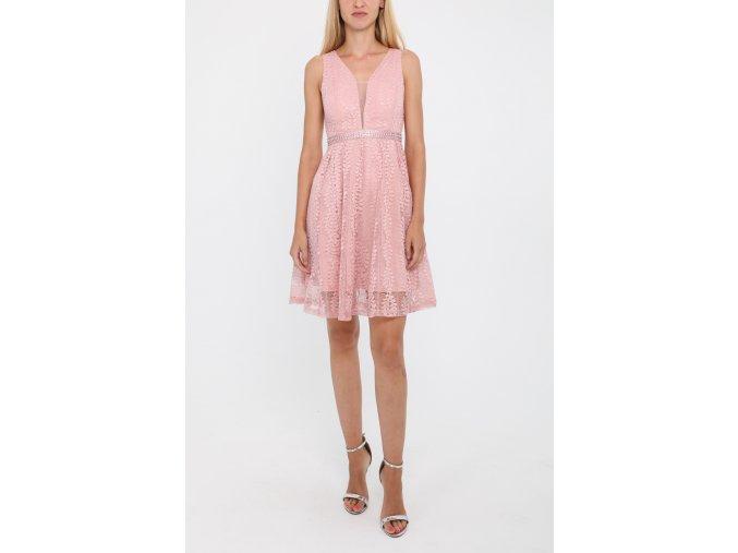 Krajkové Šaty MISA staro růžové