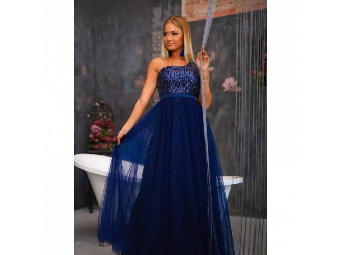 Společenské Plesové Šaty MAUDE tmavě modré